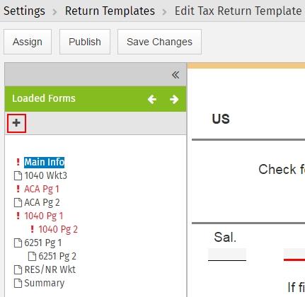 Edit Return Templates